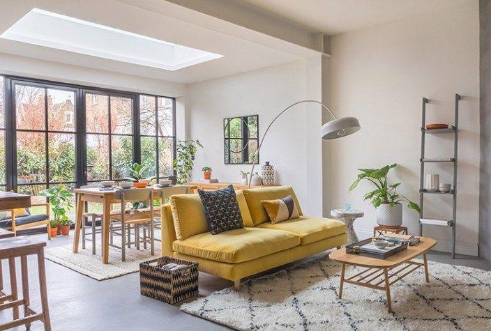 Un Salon Reamenage Par Habitat Salon Etroit Dispositions De Salon Et Agencement Salon