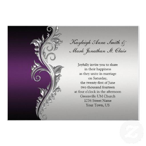 best 25+ purple wedding invitations ideas on pinterest | purple, Wedding invitations