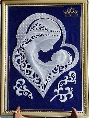 Картина, панно Пергамано: Дети - Дар Божий... Бумага, Бумага бархатная День защиты детей. Фото 1