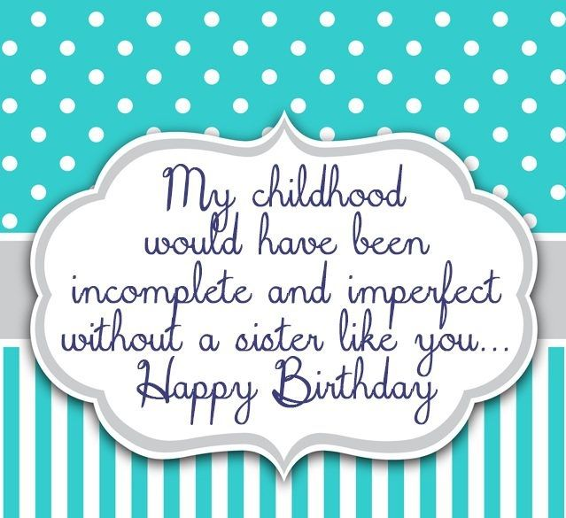 On this page we will present you a amazing collection Birthday Wishes For Sister. Here you will get Birthday Wishes For Sister. Sister are like a friend in everyone's lives, No matter how much you fight with each other, Greatest gifts from god to all brothers. Write a cute message on a card to...