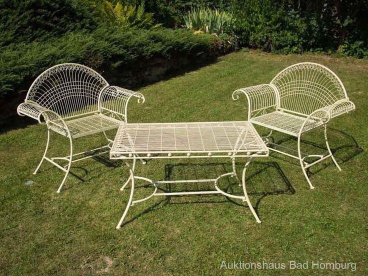 15 besten gartenmöbel aus metall bilder auf pinterest | antike ... - Gartenmobel Weis Metall