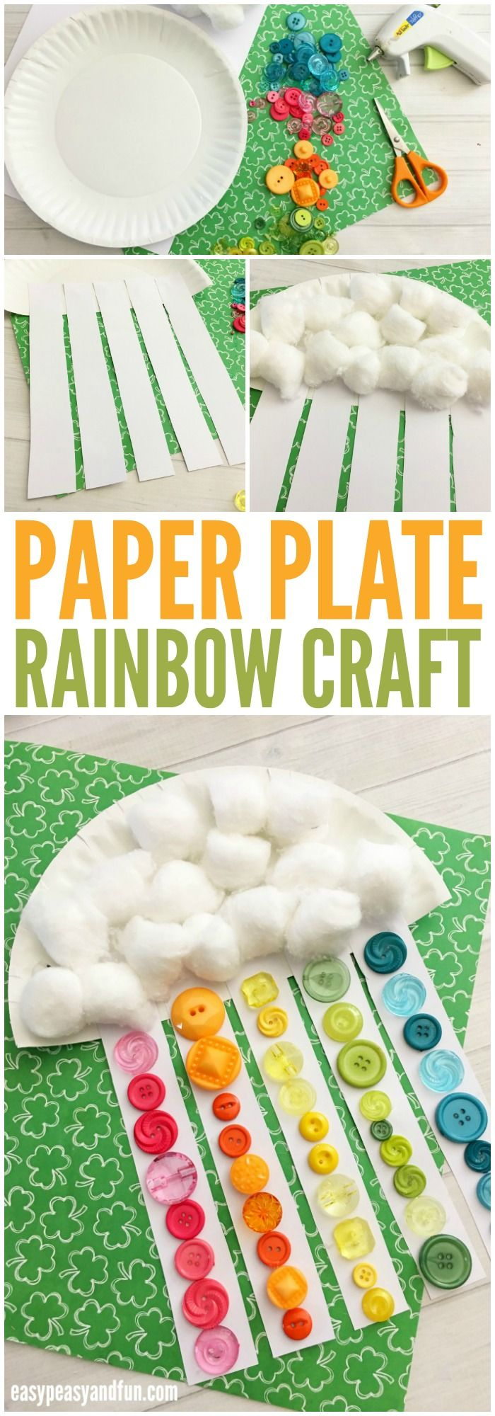 Adorable Paper Plate Rainbow Craft for Kids