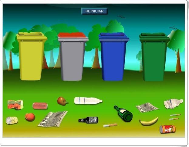 Juego del reciclaje (Madridsalud.es)