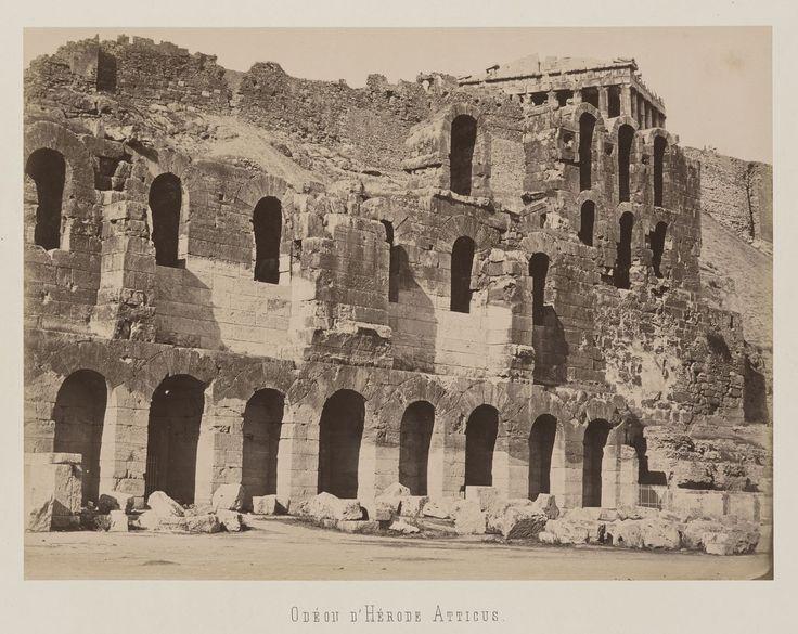 Athènes. Flanc sud de l'Acropole. Odéon d'Hérode                     Atticus © Musée Guimet, Paris, Distr. Rmn / Image Guimet