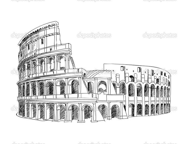 coliseo romano dibujo - Buscar con Google