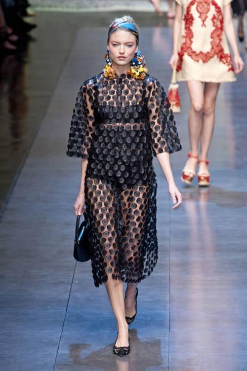 Dolce & Gabbana Spring 2013 Ready-to-Wear Runway - Dolce & Gabbana Ready-to-Wear Collection - ELLE