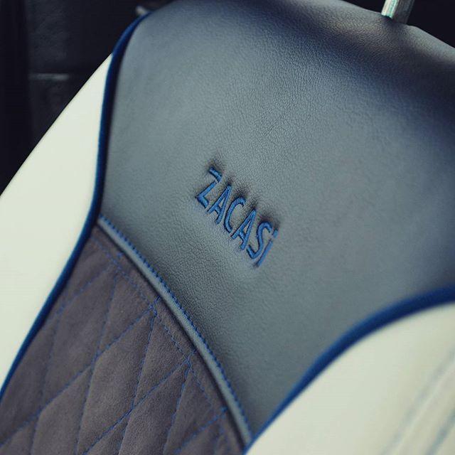 #manufacturer #ZACASi #logo #blackbeige #seat #blue #seam #seatcover #seatstyler