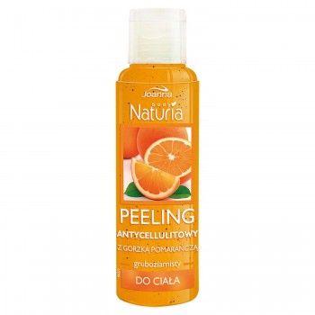 Peeling antycellulitowy z gorzką pomarańczą Naturia body. Skóra jest oczyszczona i odświeżona, jędrna i elastyczna.