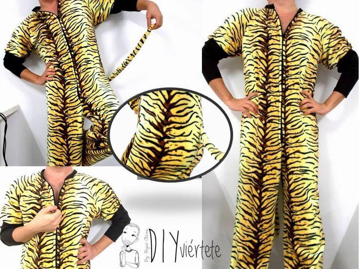 Diyviértete: Pijama-Mono Estampado de Tigre