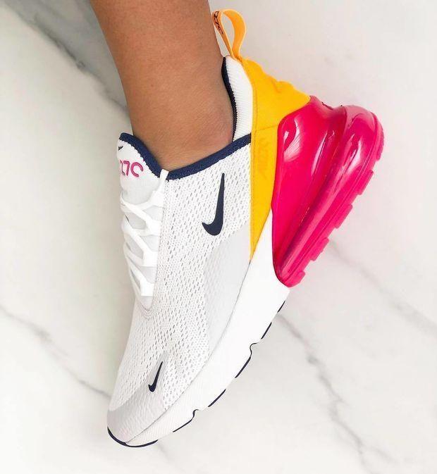 Nike Air Max 270 Sneakers Pink \u0026 Blue