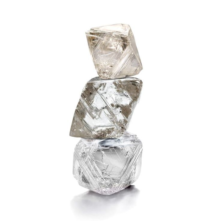 A stack of rough diamonds from the Diavik Mine, situated 220km south of the Arctic Circle.