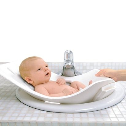 Puj Tub - Soft Foldable Infant Bath Tub......would make sink baths SO much easier