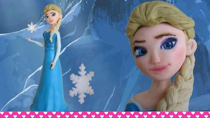 How to make a Fondant Disney Elsa Frozen Cake Topper Figurine Tutorial