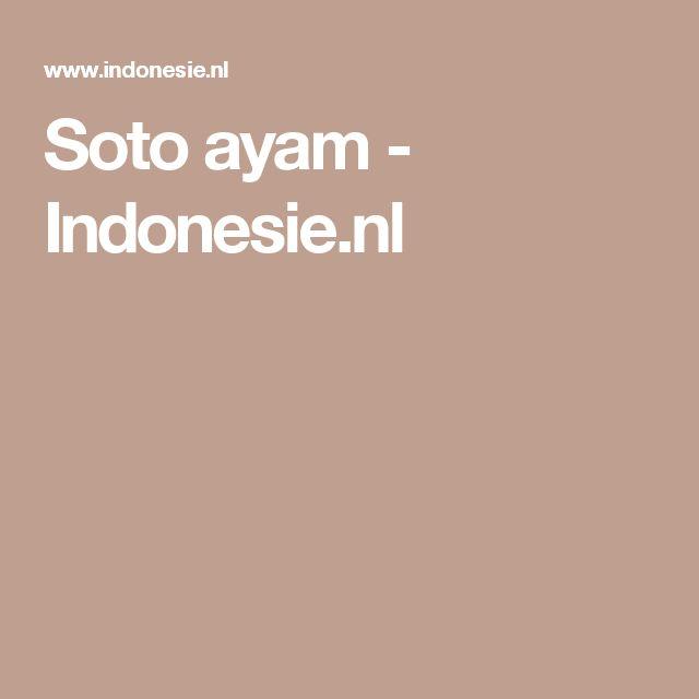 Soto ayam - Indonesie.nl