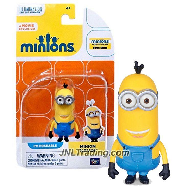 Thinkway Toys Illumination Entertainment Movie Minions 2-1/2 Inch Tall Figure - MINION KEVIN