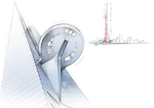 Illustration Architecture Kingdom Tower Florence Gendre