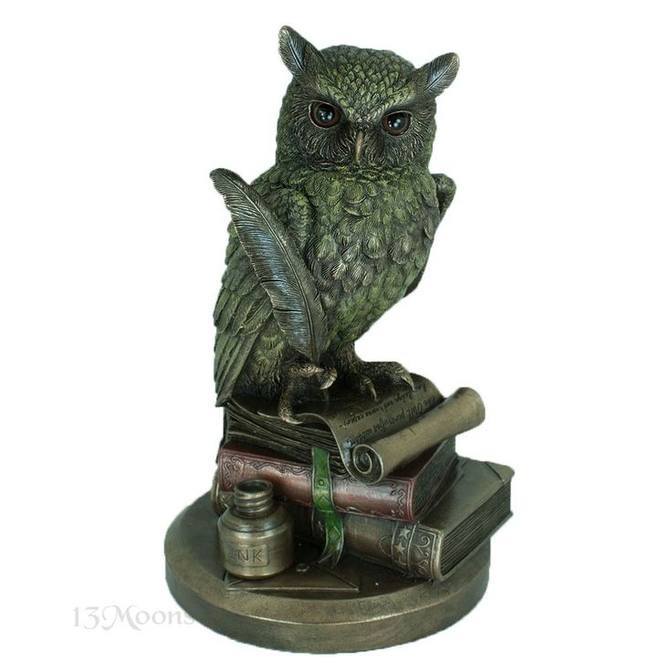 Magical Horned Owl Statue