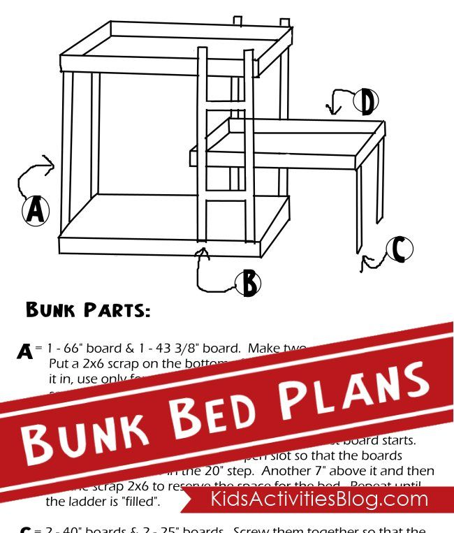 Triple bunk bed plans.  Great to have a spare bed for sleepovers!