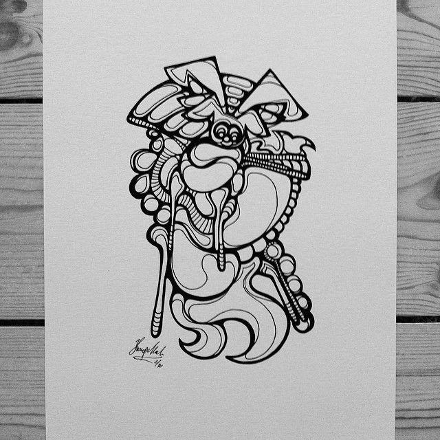 """Dog on crutches"" by hurupmunch Printed illustration on akvarel paper A4: Dkk 150,-"
