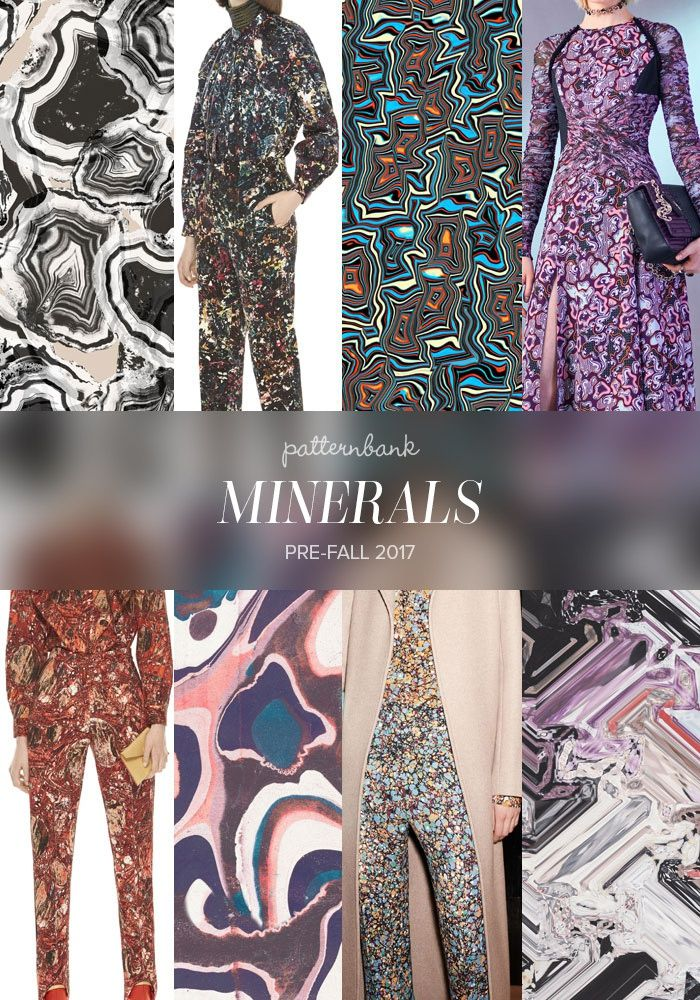 Black and White Marble Agate on Beige by Oana Soare / M Missoni / Psychedelic by Michele Tozzi / Versace / M Missoni / Pink and Blue Marble Dots by Oana Soare / Victoria Beckham / Mineral Distort by Sophie Bridger