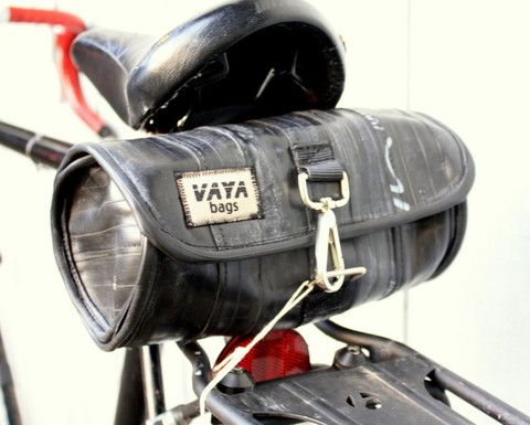 Vaya Bags Recycled Bike Tube Saddle Bag by Vaya Bags | NYMB.co