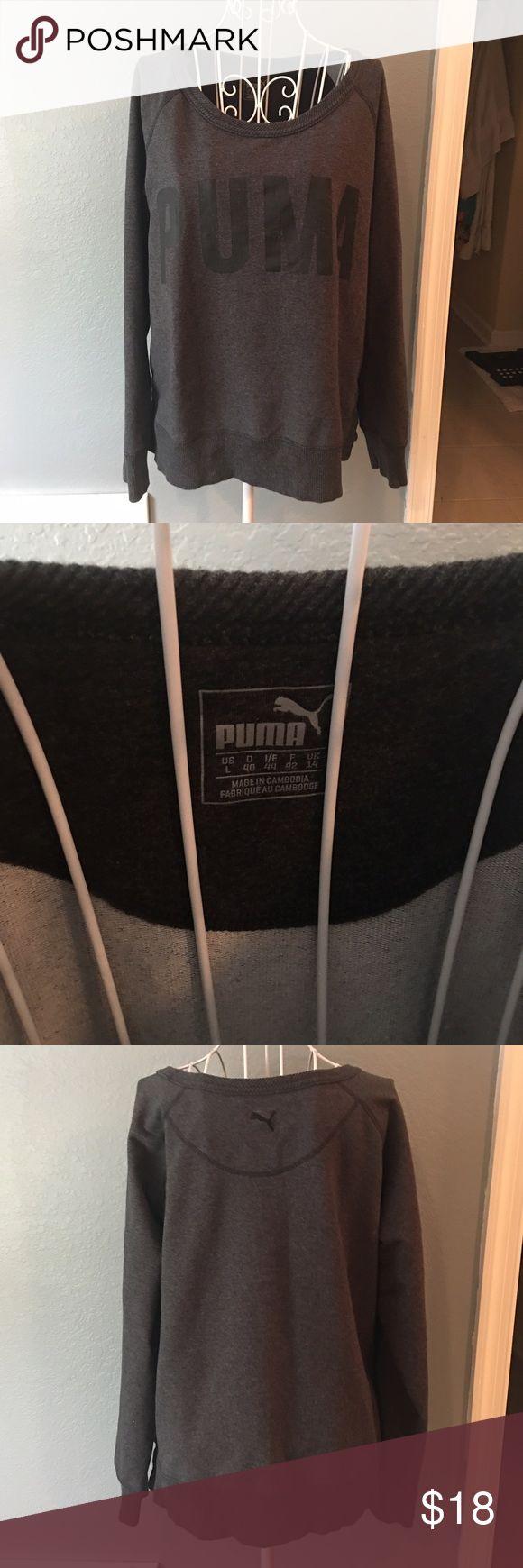 Puma Sweatshirt Lightly worn! EUC! Size large Puma Jackets & Coats