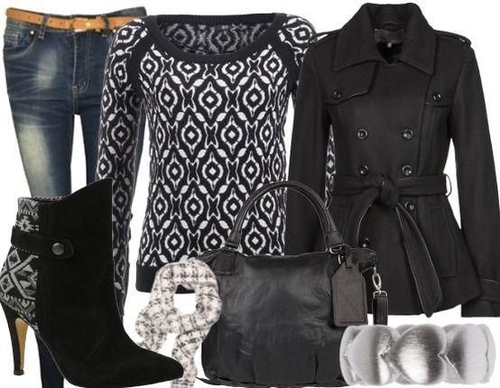 Vrolijke zwarte outfit voor iedere dag.