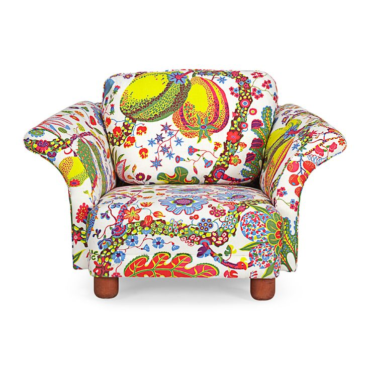fun & colourful ..http://www.svenskttenn.se/en-us/product/0159/furniture/arm-chairs/ma10055/arm-chair-liljevalch.aspx