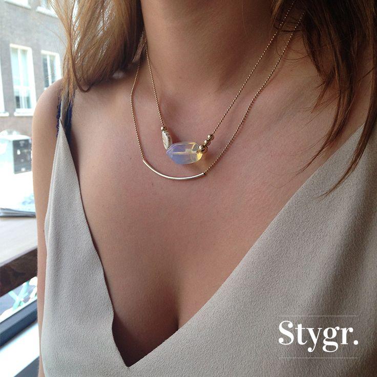 Opa Leaf & Chic Simplicity Necklace - Gold. Stygr. - Handmade Designs.   www.stygr.com