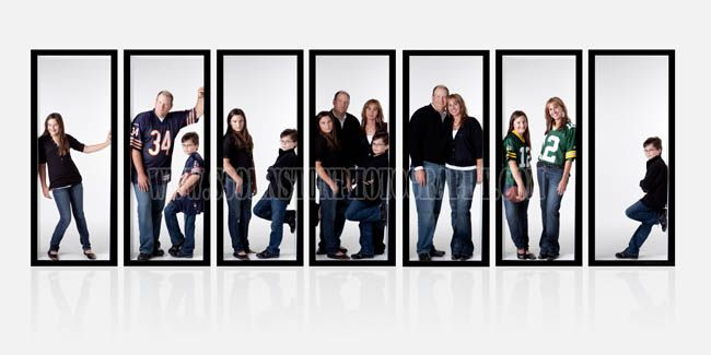 This is such an original idea. Especially with a large family photoshoot.
