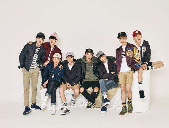 EXO logra un perfecto look casual para Hats On