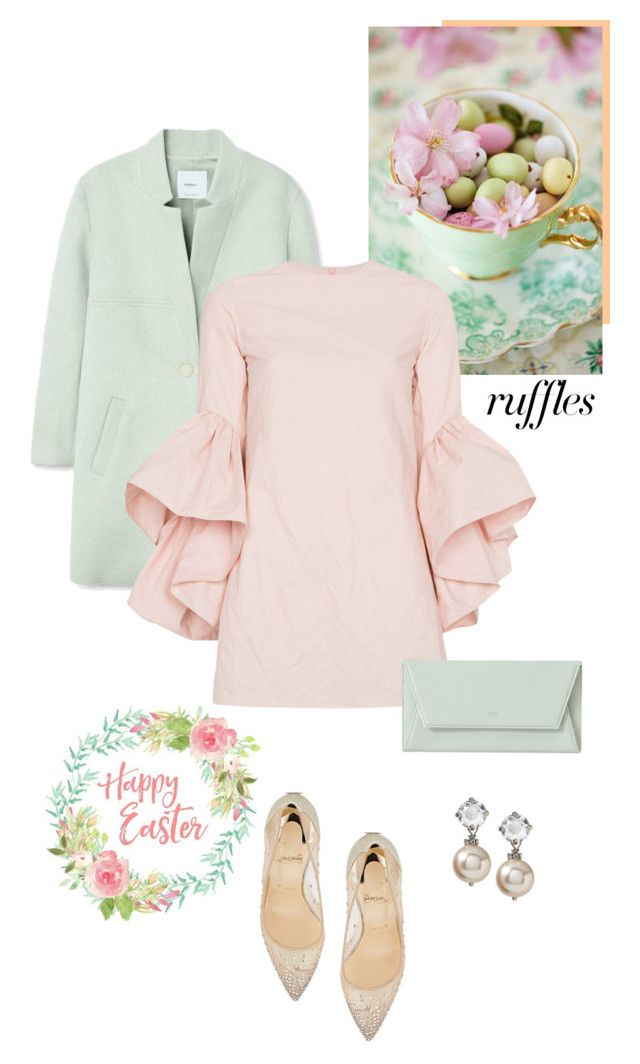 """""""Happy Easter"""" by isidora ❤ liked on Polyvore featuring MANGO, Marques'Almeida, Christian Louboutin, ruffles and RuffLyfe"""