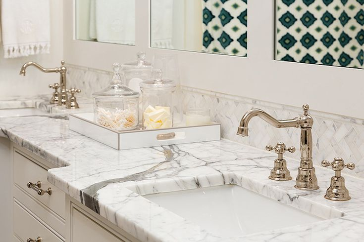 Colordrunk Design - bathrooms - master bathroom, double vanity, double washstand, framed mirror, square sinks, his and her sinks, white doub...