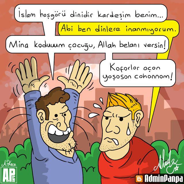 Karikatür | Hoşgörü Dini  #adminpanpa #mizah #karikatur #islam #din #dinler #inanc #religion #deist #ateist #agnostik #deizm #ateizm #agnostizm #nonteist #dinsiz #hosgoru