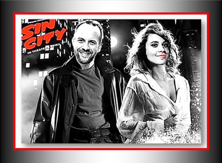Morgan Hoffman and Teddy Wilson in Sin City mock cover.