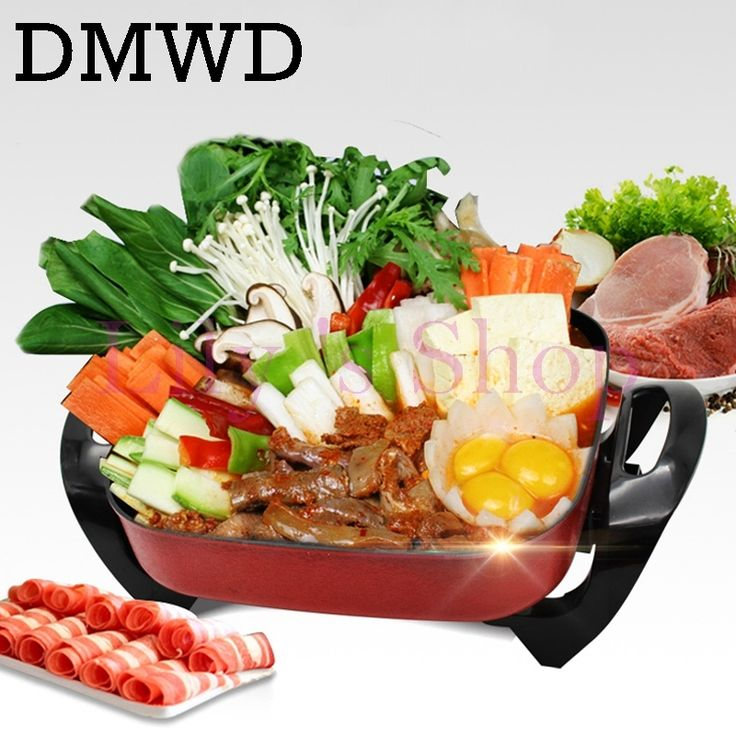 14.95$  Watch now - http://alis9q.shopchina.info/1/go.php?t=32641248433 - Multifunction household frying oven Electric roasting pan Korean heat Hot pot 5L grill Skillets cooking pot Kitchen Appliance  #bestbuy