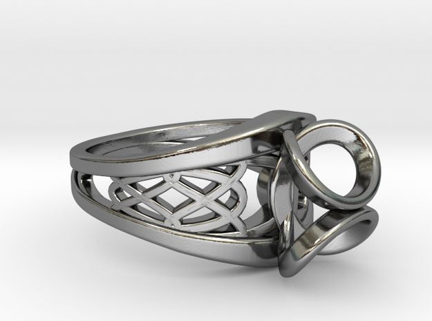 Tennis Seam Curve Twin Ring by Fluid_Designer