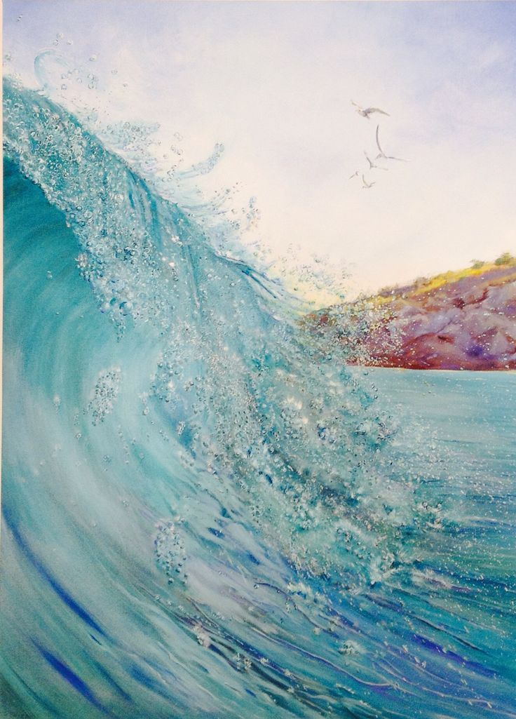 Waiting for the wave  Oil on canvas