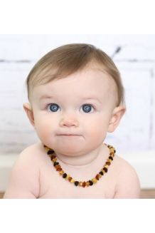 Baltic Amber Nuggets Baby Teething Necklace -- &..
