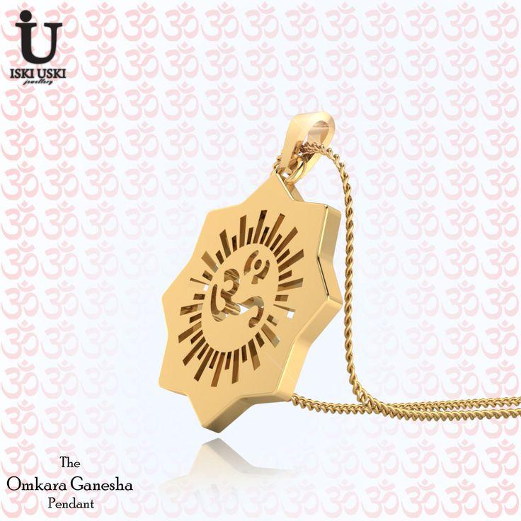The Omkara Ganesha Pendant are wonderful for everyday wear as well as those Special Occasions!!.#OMPendants #Pendants #DiamondPendants #IskiUski