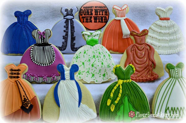 GWTW Dress Cookies!! I LOVE THESE!!!!!!  So beautiful!!!