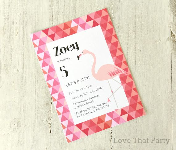 111 best images about Girls Party Ideas – Flamingo Party Invitations