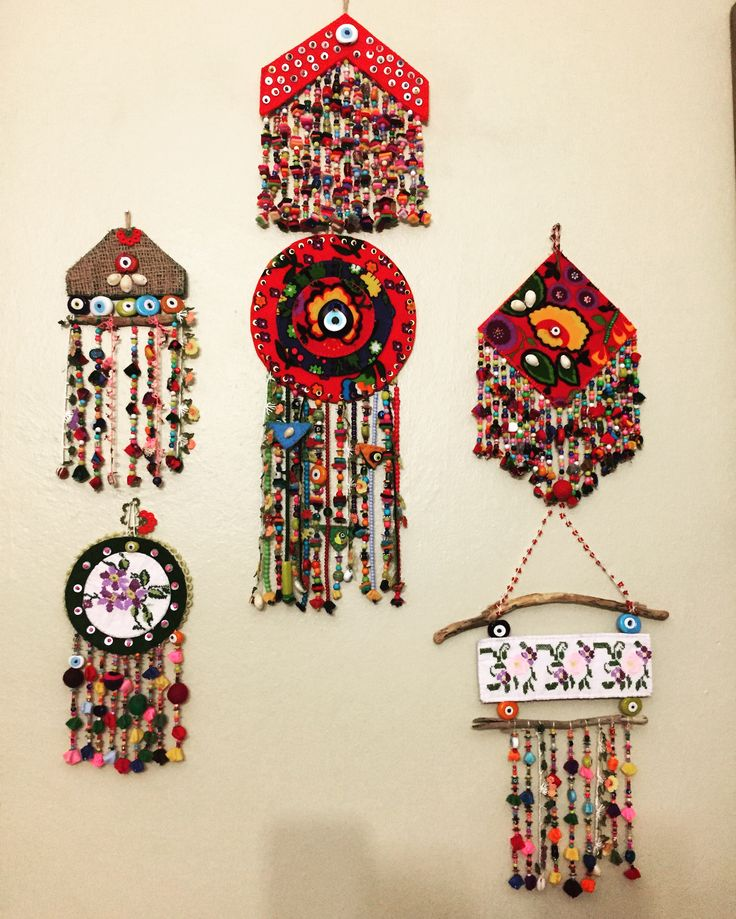 nazarlık, keçe, keçe nazarlık, pazen, kanaviçe, driftwood, amulet, felt, feltro, handmade, design
