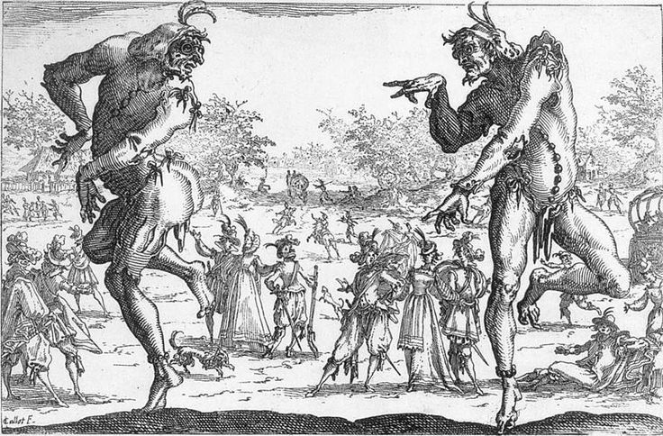 The Two Pantaloons,1616 by Jacques Callot
