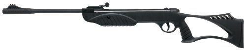 Ruger Explorer Youth Rifle (Black, Large) - http://www.airrifleforsale.com/ruger/ruger-explorer-youth-rifle-black-large/ - The Ruger® Explorer youth air rifle is a spring piston single stroke break barrel air rifle with an all-weather composite black stock. This Ruger Air Rifle's stock is ambidextrous (for both left- and right-handers) and has a thumbhole stock and vented cheekpiece for comfort and ease of use. The Explorer rifle shoots pellets out of its rifled barrel