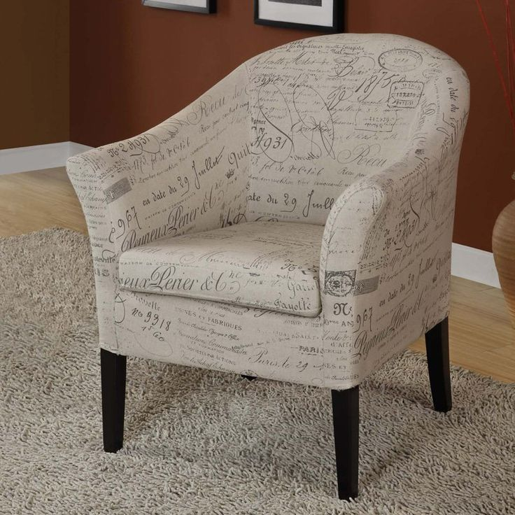 Aries Club Chair With French Print