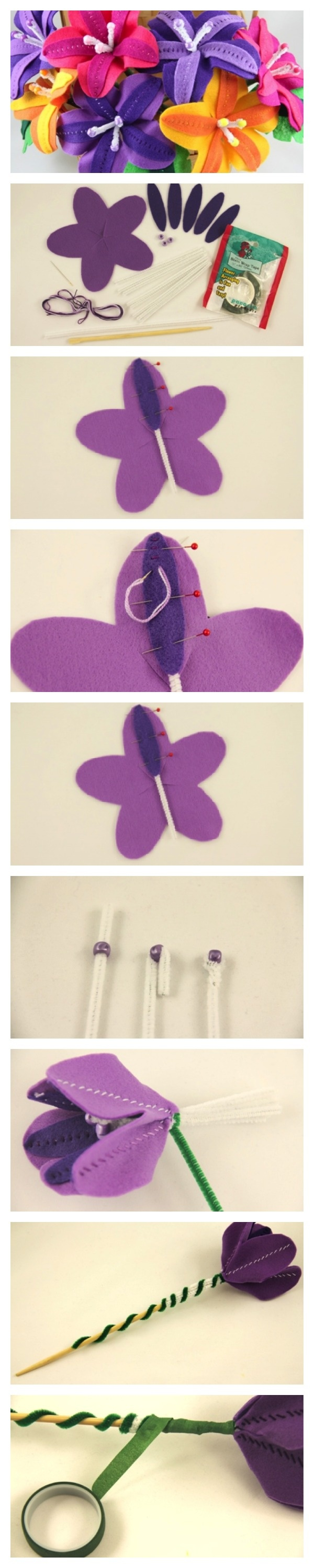 """#Disney Craft: How to make flowers inspired by Epcot Int. Flower & Garden Fest + release of """"Oz the Great and Powerful."""""""