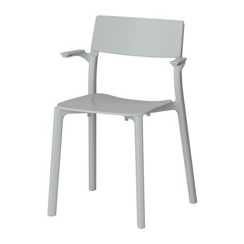 IKEA - JANINGE, Armchair, You can stack the chairs, so they take less space when you're not using them.</t><t>You can start using the chair immediately because it is pre-assembled.</t><t>Can be hung with the armrests on a table top for easy cleaning.