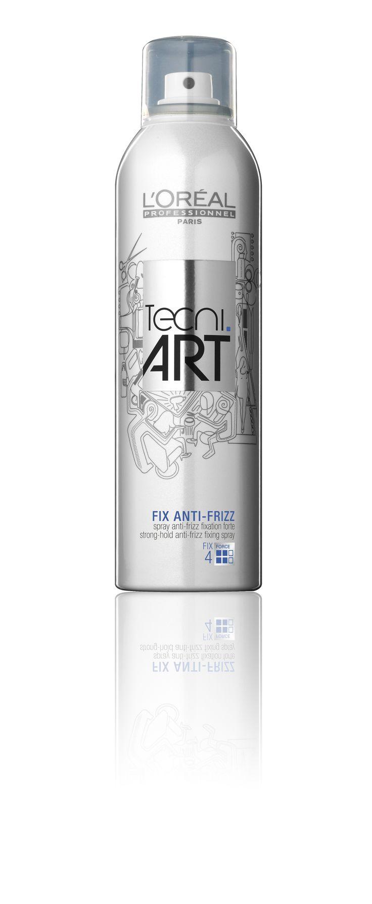 L'Oréal Professionnel Tecni.ART Fix - Fix Anti-Frizz strong hold anti-frizz fixing spray 240ml.