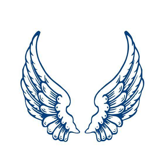 angel wings template | Largeangelwings clip art - vector clip art online, royalty free ...